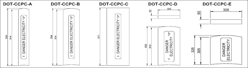 DOT Concrete Cable Protection Covers Dimensions
